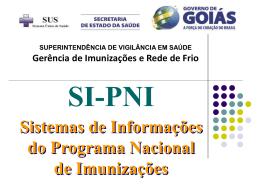 Sistema de Informação do PNI