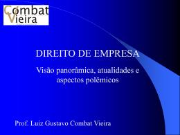 DIREITO EMPRESARIAL - Combat Vieira Advogados Associados