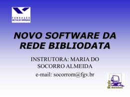 NOVO SOFTWARE DA REDE BIBLIODATA