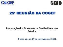 8 – COGEF 25a reunião BID Novo Programa Fiscal25-11-14