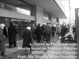 Curso de Pós-Graduação Gestão Social de Políticas