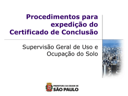 Para que é necessário o Certificado de Conclusão? - Sinduscon-SP