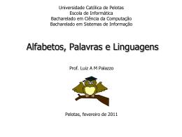 Alfabetos, Palavras e Linguagens