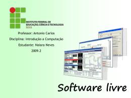 Apresentação sobre Software Livre