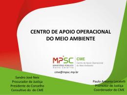 Centro de Apoio Operacional do Meio Ambiente - Sandro