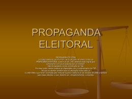 PROPAGANDA ELEITORAL - Instituto Brasil Cidade
