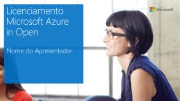 Licenciamento Microsoft Azure Open