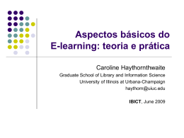 E-Learning Basics: Theory and Practice Presença