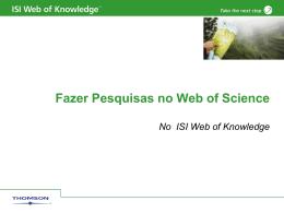 Pesquisar no Web of Science