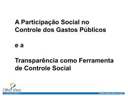 Transparência como ferramenta de controle social