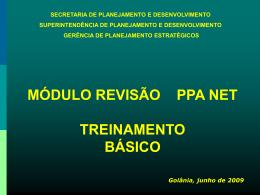 Treinamento do Sistema PPANET - Apoio Administrativo