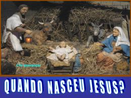 Quando nasceu Jesus