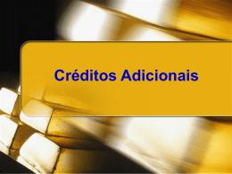Créditos adicionais- apresentação