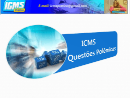 ICMS Questões polêmicas - CRC-CE