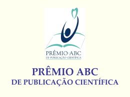 Book Comercial Prêmio da Revista ABC
