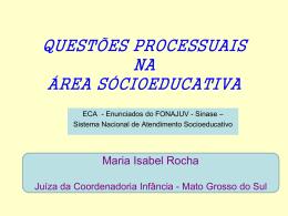 Questões Processuais na Área Sócioeducativa