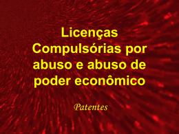 Licenças compulsórias