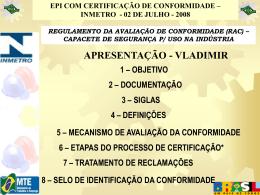 regulamento da avaliação de conformidade (rac)