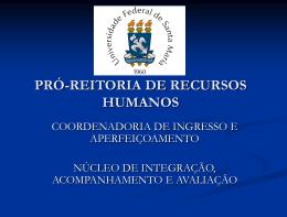PRÓ-REITORIA DE RECURSOS HUMANOS