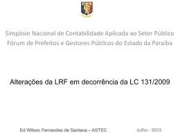 Simpósio Nacional de CASP 2015 2 - CRC-PB