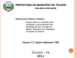 Slide 1 - Portal do Município de Toledo