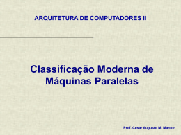 Classificacao Moderna de Maquinas Multiprocessadas
