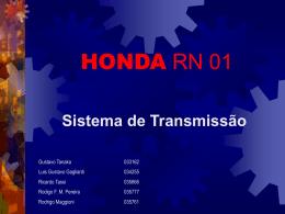 Sistema de transmissão da Honda RN01 , em substituição ao
