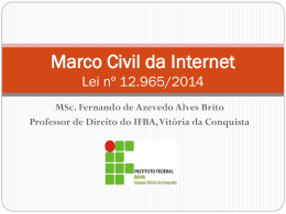Marco Civil da Internet Lei nº 12.965/2014 - Week-IT