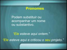 Aula 3 – pronomes