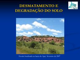 Desmatamento e Degradação do solo