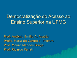 Slide 1 - Universidade Federal de Minas Gerais