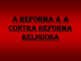 a contra reforma religiosa