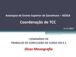1° Seminário de TCC