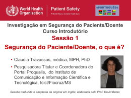 Sessao1_PT - World Health Organization