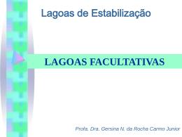 Lagoas facultativas - Departamento de Engenharia Ambiental