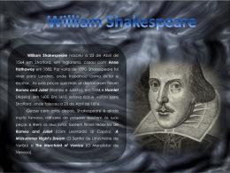 Vida e Obra de Shakespeare (Nicole 8º A) - Bem