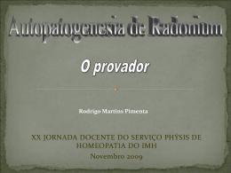 5º dia - Serviço Phýsis de Homeopatia