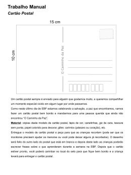 Trabalho Manual Cartão Postal