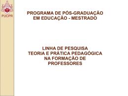 Slide 1 - GPER Grupo de Pesquisa Educação e Religião