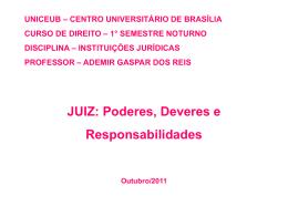 Juiz: Poderes, Deveres e Responsabilidades