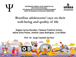 Brazilian adolescents` says on their well