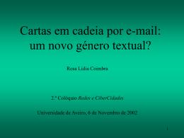 Rosa Lídia Coimbra, Universidade de Aveiro, Portugal