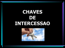 CHAVES DE INTERCESSAO