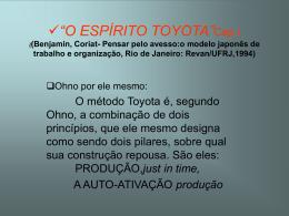 """""""O ESPÍRITO TOYOTA"""" ((Benjamin, Coriat"""