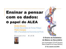 Pensar com os dados: o contributo do ALEA