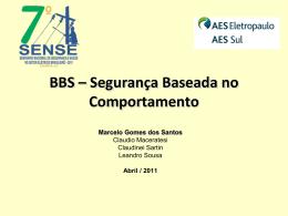 BBS – Segurança Baseada no Comportamento