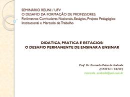 SEMINÁRIO REUNI / UFV O DESAFIO DA FORMAÇÃO DE