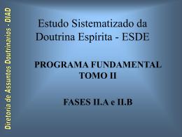 ESDE - PROGRAMA FUNDAMENTAL TOMO II Módulo X - CEAL-DF