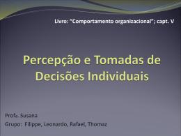 Percepção e Tomadas de Decisões Individuais