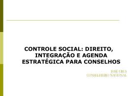 Desafios a integração dos orgãos de controle social